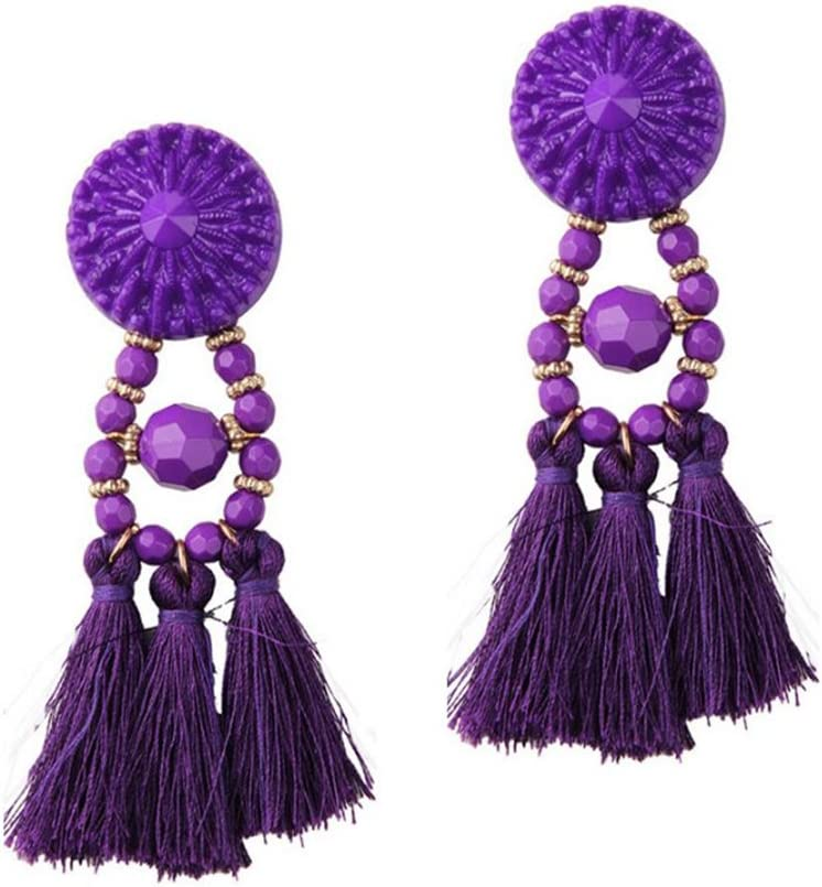 Aikesi Pendientes Encanto de la joyería Mujeres Chica Llamativo colgante de piedras preciosas de cristal Moda elegante Pendientes Idea de regalo, 1 pc