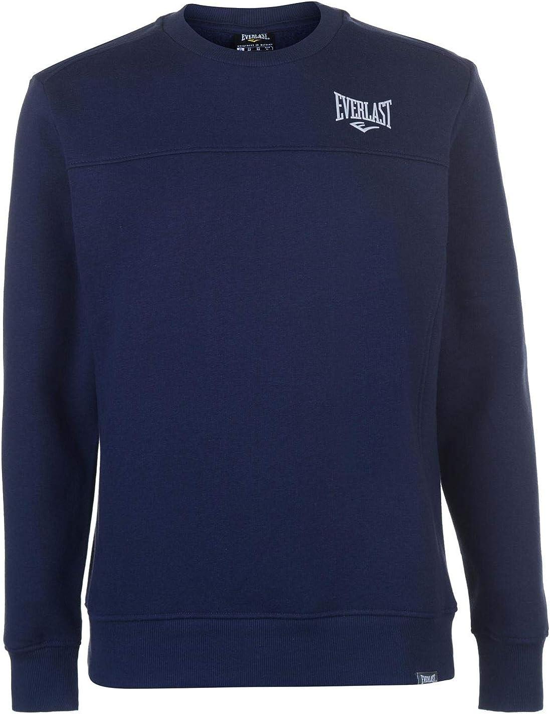 Everlast suéter con Cuello Redondo para Hombre Azul Azul Marino ...
