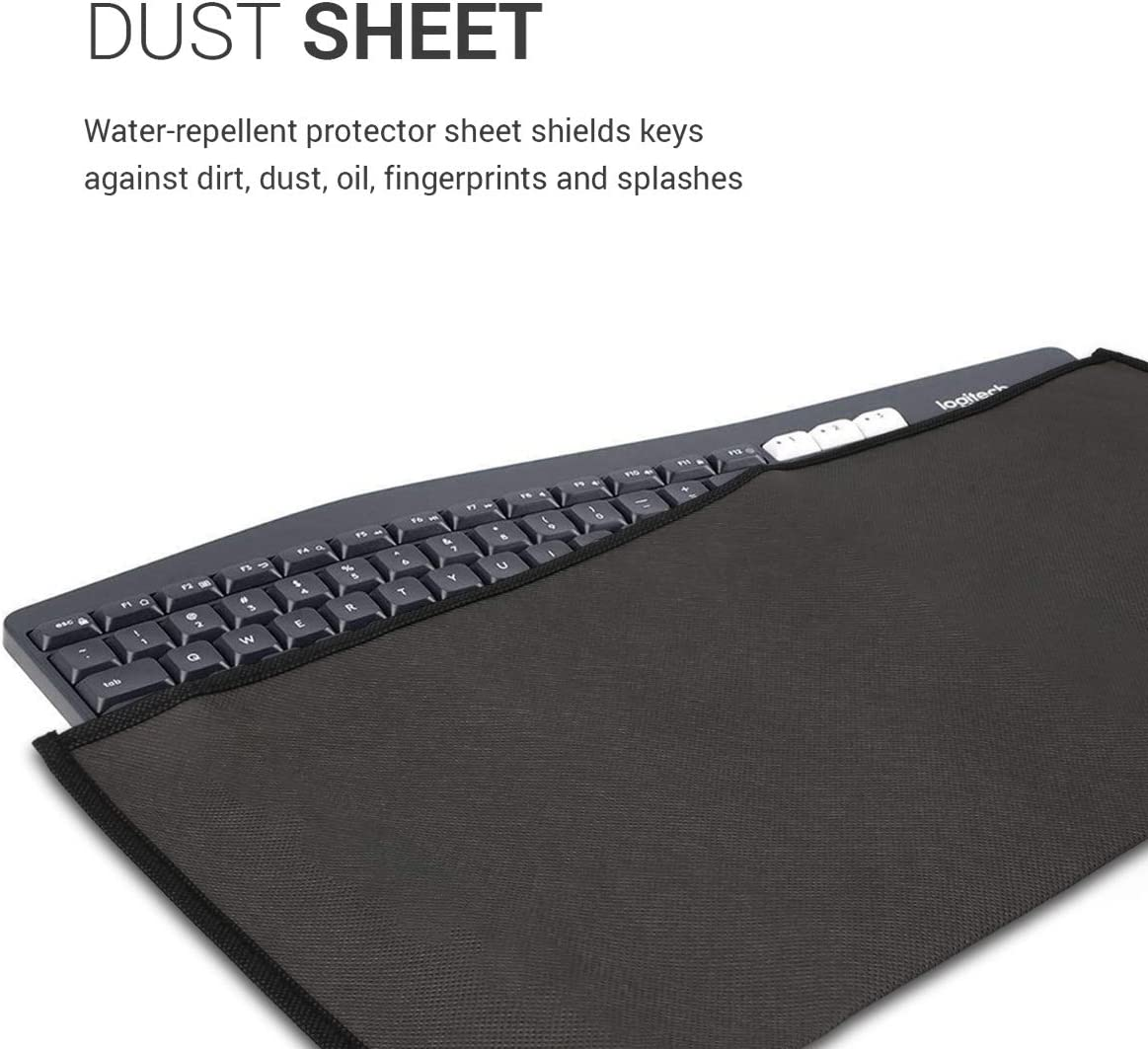 kwmobile Keyboard Cover Compatible with Universal Keyboard Dark Grey Protective Skin Computer Keyboard Dust Cover Case