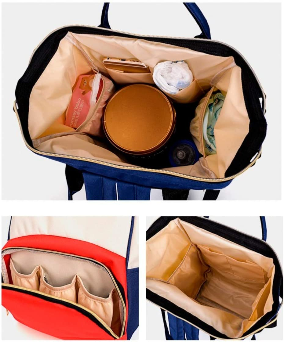 Larger,Holdall /& Durable for Travel Stroller and Maternity use by Mom /& Dad. with Strap White+Red Waterproof Stylish Baby Changing Bag Diaper Nappy Rucksack Backpack with Multi-Function Pockets