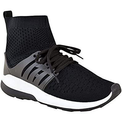 New Womens Designer Knit Speed Socks Runner Ladies Trainers Sneakers Shoes UK