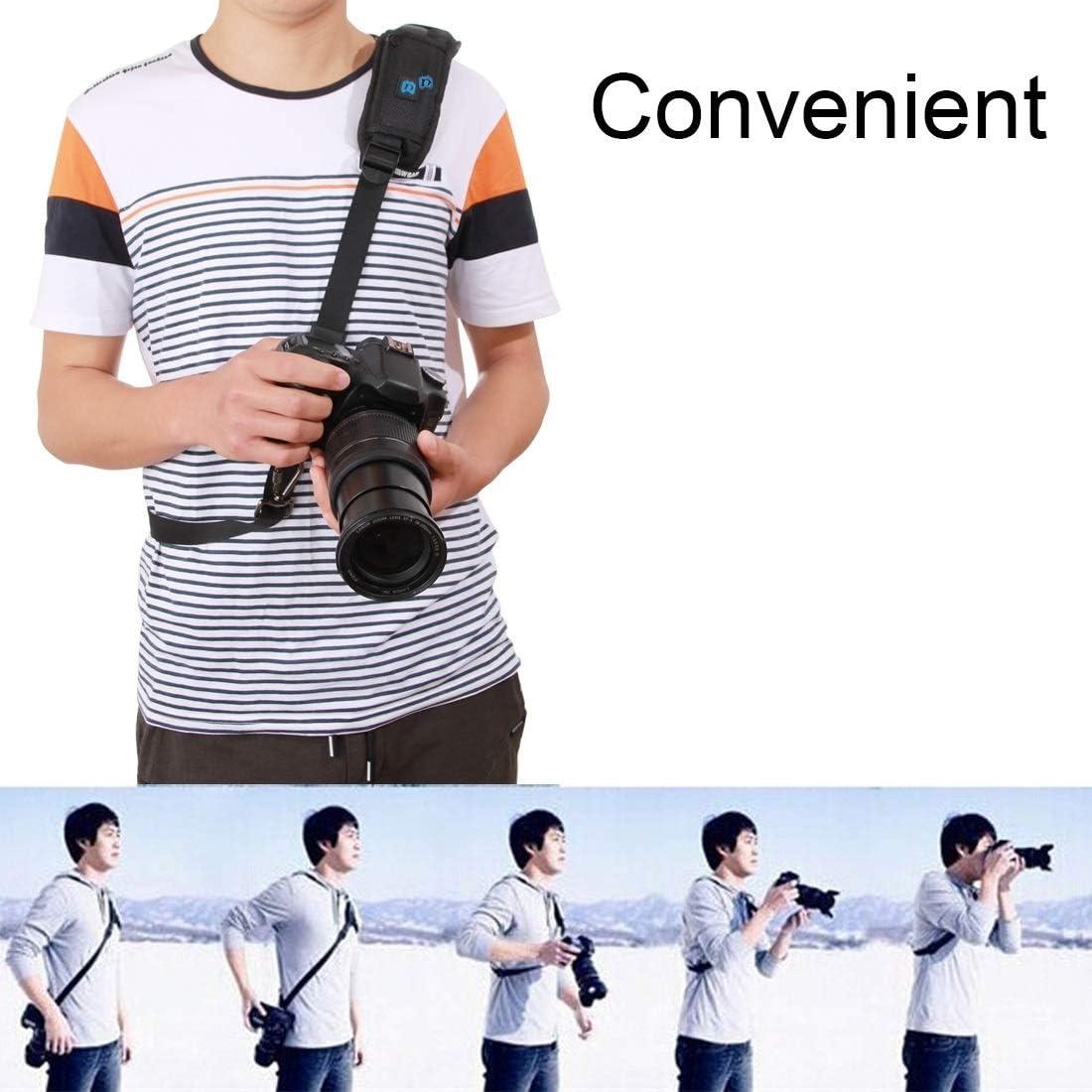 Camera Accessory Quick Release Anti-Slip Soft Pad Nylon Single Shoulder Camera Strap with Metal Hook for SLR//DSLR Cameras Camera /& Camcorder Strap