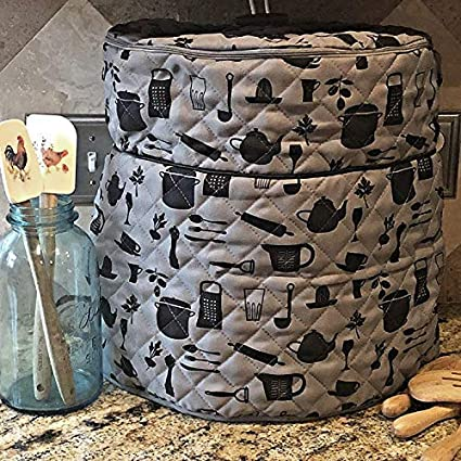 Fits 6.5 QT and 8 Qt Gray and Black - 6.5Qt. and 8 Qt PATENT PENDING CUSTOM DESIGN For Use With Ninja Foodi Pressure Cooker Cover Custom Made Accessories