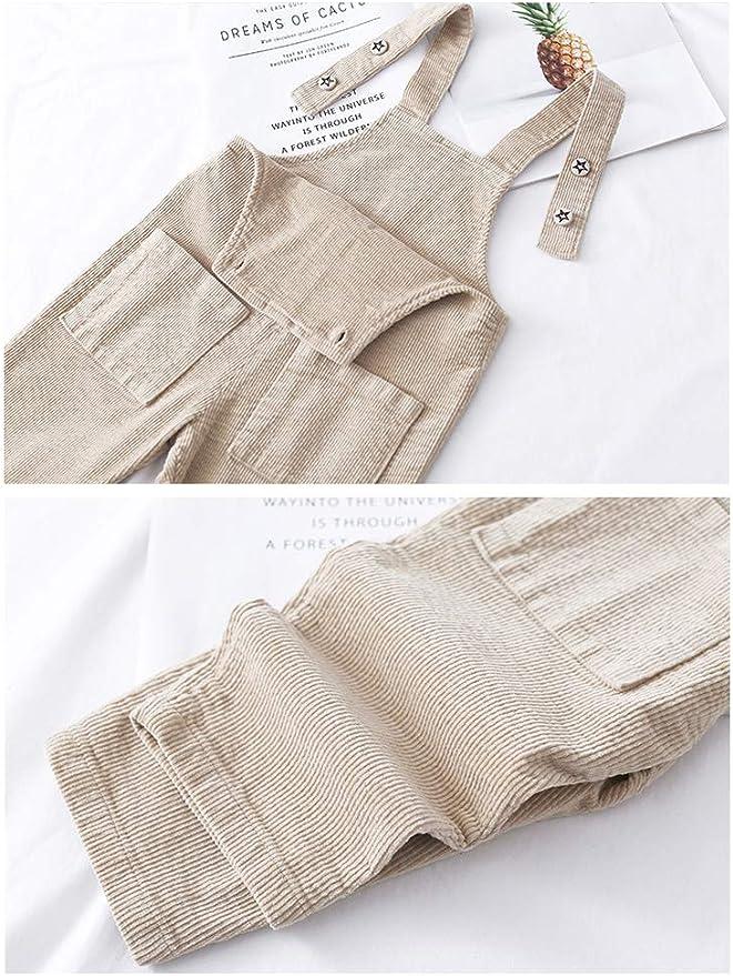 2 A/ños Odziezet Pantalones de Peto Beb/é Ni/ño Ni/ña Primevera Oto/ño Reci/én Nacido Tirante Ajustable 3 Meses