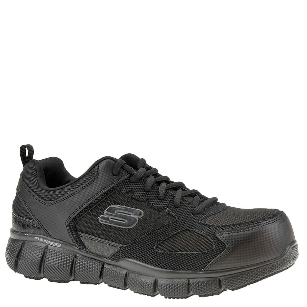 Skechers Work Telfin Comp Toe Mens Sneakers Black 9.5 W by Skechers