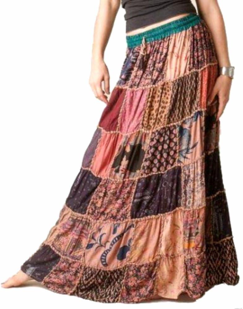 1 Falda Maxi hippie tribal falda del vientre faldas Banjara NUEVO ...