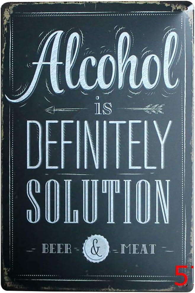 Youyun Vintage M/étal Poster Alcool Pancarte publicitaire D/écor pour caf/é Bar Pub Home 30/x 20/cm
