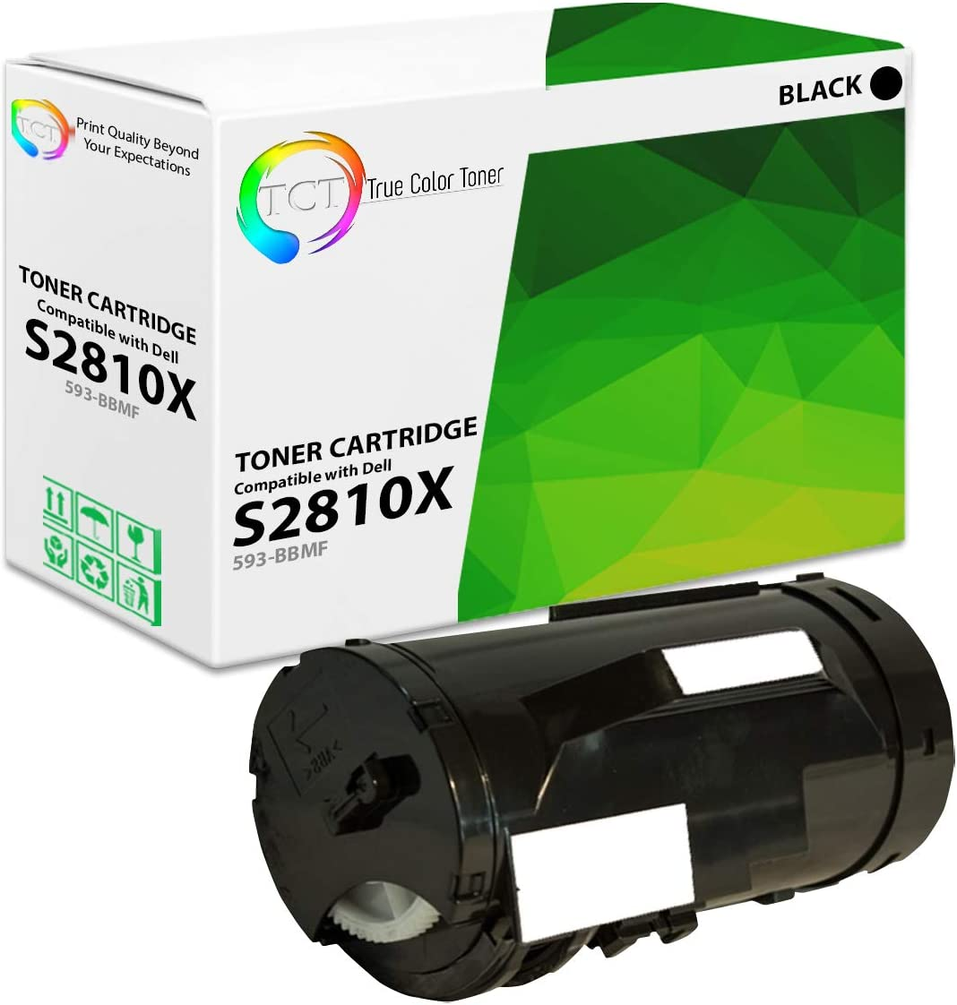 TCT Premium Compatible Toner Cartridge Replacement for Dell 593-BBMF Black High Yield Works with Dell S2810DN Printers 6,000 Pages