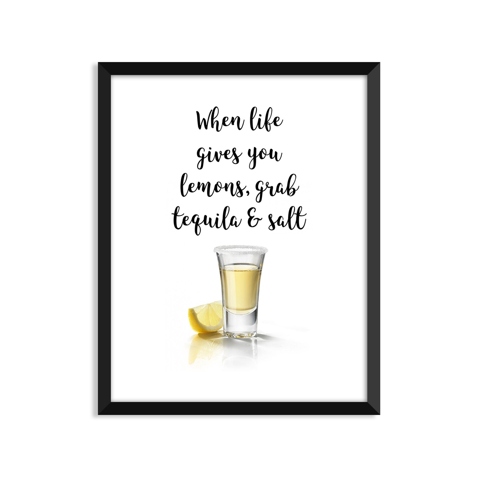 When Life Gives You Lemons, Inspiration Quote, Funny, Adult, Minimalist Poster, Home Decor, College Dorm Room Decorations, Wall Art
