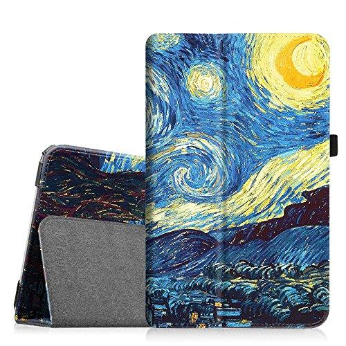Fintie Samsung Galaxy Tab E 9.6 Folio Case - Slim Fit Premium Vegan Leather Cover for Samsung Tab E / Tab E Nook 9.6-Inch Tablet (SM-T560 / T561 / T565 & SM-T567V Verizon 4G LTE Version), Starry Night