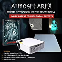 Atmosfearfx Windowfx Ghostly Apparitions DVD and Video Projector Bundle With Hologram Screen