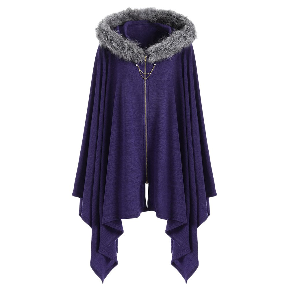 Classic Medieval Style Women Winter Knitted Cashmere Poncho Capes Shawl Cardigans Sweater Coat Winter Keep Warm Scarves Cloak Costumes & Accessories Game Costumes
