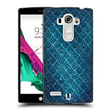 Head Case Designs Glitters Mermaid Scales Hard Back Case for LG G4 Beat / G4s / G4 s / H735