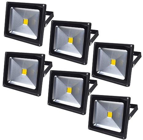 Leetop 6X 30W 10W 20W Negro Blanco Cálido Foco Proyector LED ...