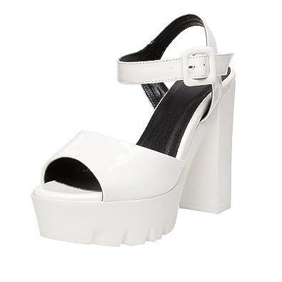 Sacs Weiß Cheville Bride Chaussures Et Blanc Femme Uh OfHSw0qP