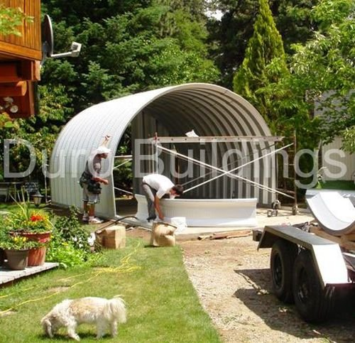Duro Steel S25x25x12 Metal Building Factory Agricultural Hay Storage / Shed from Duro