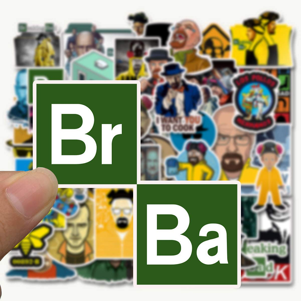 WOCOCO Breaking Bad Stickers, Waterproof Vinyl Stickers for Laptop, Water Bottles, HydroFlask (50 Pack)