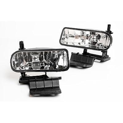 Fog Light Lamp Replacement Set for 1999-2002 Silverado Tahoe Suburban Pair: Automotive