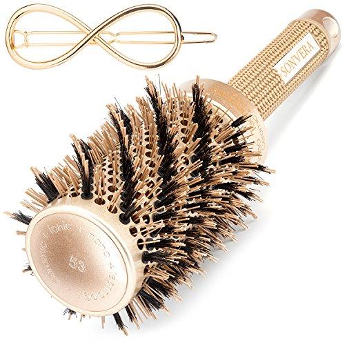 Round Brush, Hair Brush, Styling Brush, Hair Brushes, Round Brush for Blow Drying, Styling Brushes Blow Dry, Round Brushes, Ceramic Brush,Boar Bristle Brush,Blow Dryer Ionic Professional Brush,2 inch