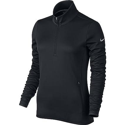 Women Nike Warm Half-Zip Black/Dark Grey/Heather/Wolf Grey