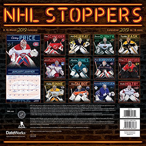 2019 NHL Stoppers Wall Calendar (English and French Edition) by Trends International Calendars
