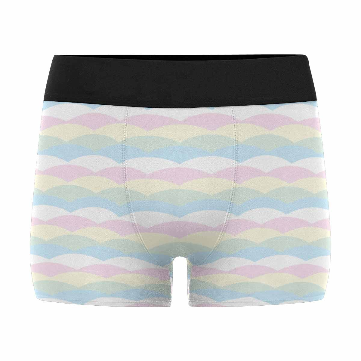 INTERESTPRINT Boxer Briefs Mens Underwear Pastel Color Wave Pattern XS-3XL