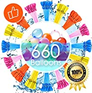 Water Balloons for Kids Girls Boys Balloons Set Party Games Quick Fill 660 Balloons 18 Bunches for Swimming Po