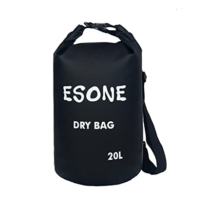 c4f10ef2e5d1 ESONE 10L 20L Waterproof Dry Bag Roll Top Dry Sack for Kayaking Boating  Fishing Swimming