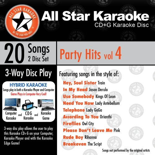 ASK-109 Karaoke: Party Hits Vol.4 With Karaoke Edge, Lady Antebellum, Kings Of Leon, Zac Brown Band