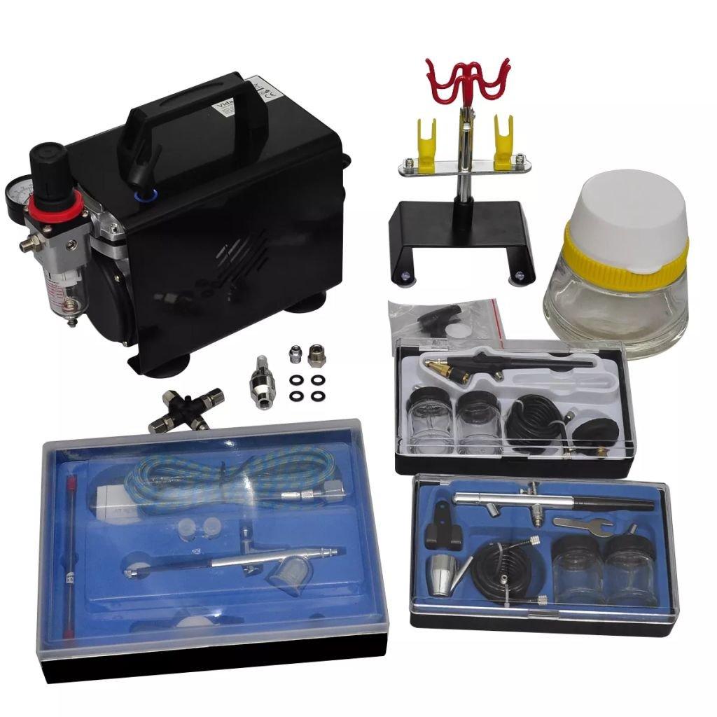 Xingshuoonline Compresor Aerografo con 3 Pistolas, para Varios Usos,Compresor Air Conditioner: Amazon.es: Bricolaje y herramientas