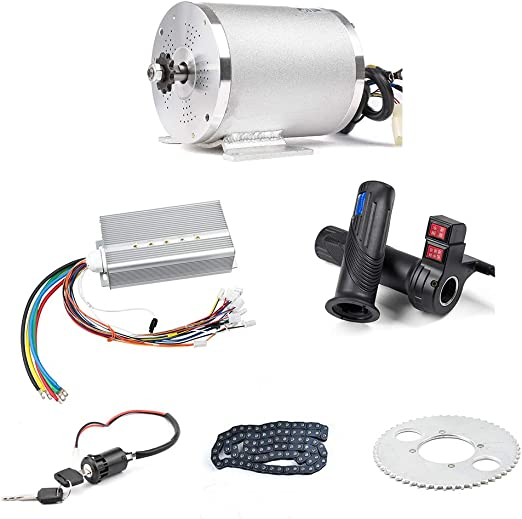 Amazon.com : BLDC 72V 3000W Brushless Motor Kit with 24 Mosfet 50A Controller and Throttle for Electric Scooter E Bike Engine Motorcycle DIY Part Conversion Kit (6 Part in 1 and Motor with Foot) : Sports & Outdoors