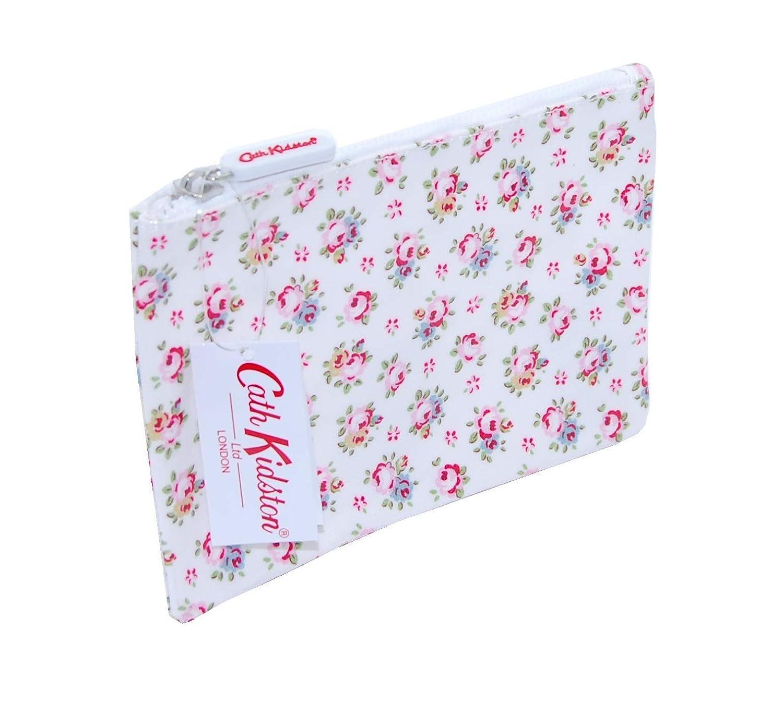 Cath Kidston Zip Wallet Art Brieftasche Geldscheine Tasche Hampton Rose Withe weiß mit Kleinen Rosen Oilcloth