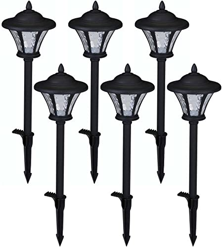 Low-Voltage LED Black Metal Coach Path Light 6-Pack