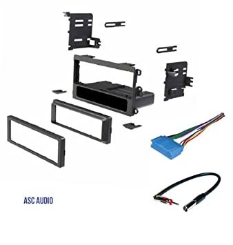 61yt2eNqsvL._SY355_ amazon com asc car stereo dash kit, wire harness, antenna adapter 97 Dodge Ram Radio Wiring at eliteediting.co