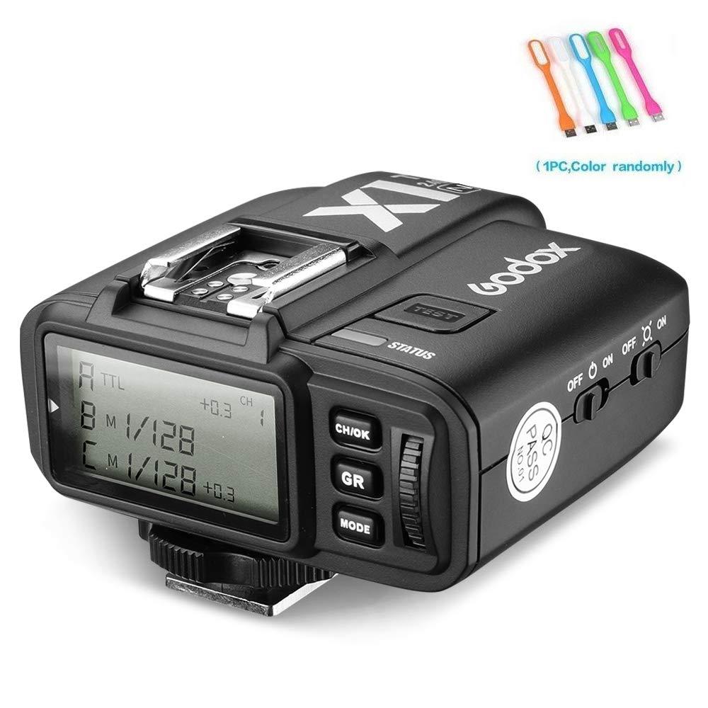 Godox X1N i-TTL Wireless 2.4 G Flash Remote Trigger Transmitter Compatible for Nikon cameras (X1T-N) with CONXTRUE USB LED by Godox
