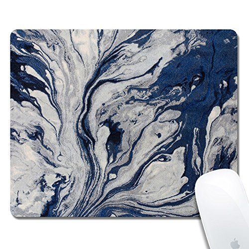 Price comparison product image Kusa Blue Watercolors Area Rug Mouse Pad, ink painting Pattern Design Cloth surface Natural rubber Mouse Pad, Customized Non-Slip Rubber Gaming Mouse Pad(9.5x7.9inch)