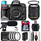Holiday Saving Bundle for D610 DSLR Camera + 18-140mm VR Lens + 2yr Extended Warranty + Macro Filter Kit + 16GB Class 10 + UV Filter + Cleaning Kit + Cleaning Brush + Card - International Version