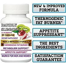 New Improved Formula + THERMOGENIC Fat Burner 1 Bottle Original Rapidly Slimming 30 Capsules. Maximum Strength.