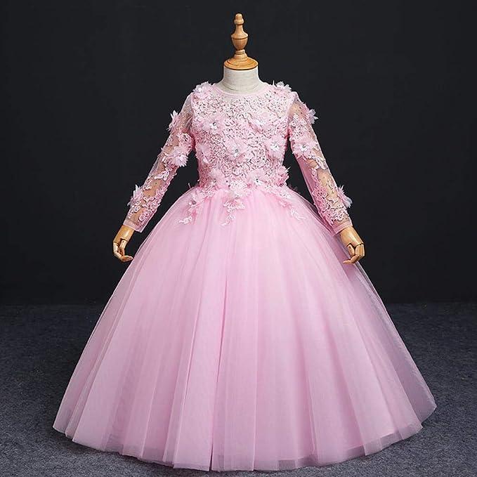 CYDKZMEPA Vestido de Noche de niña de Flores, Vestido de ...