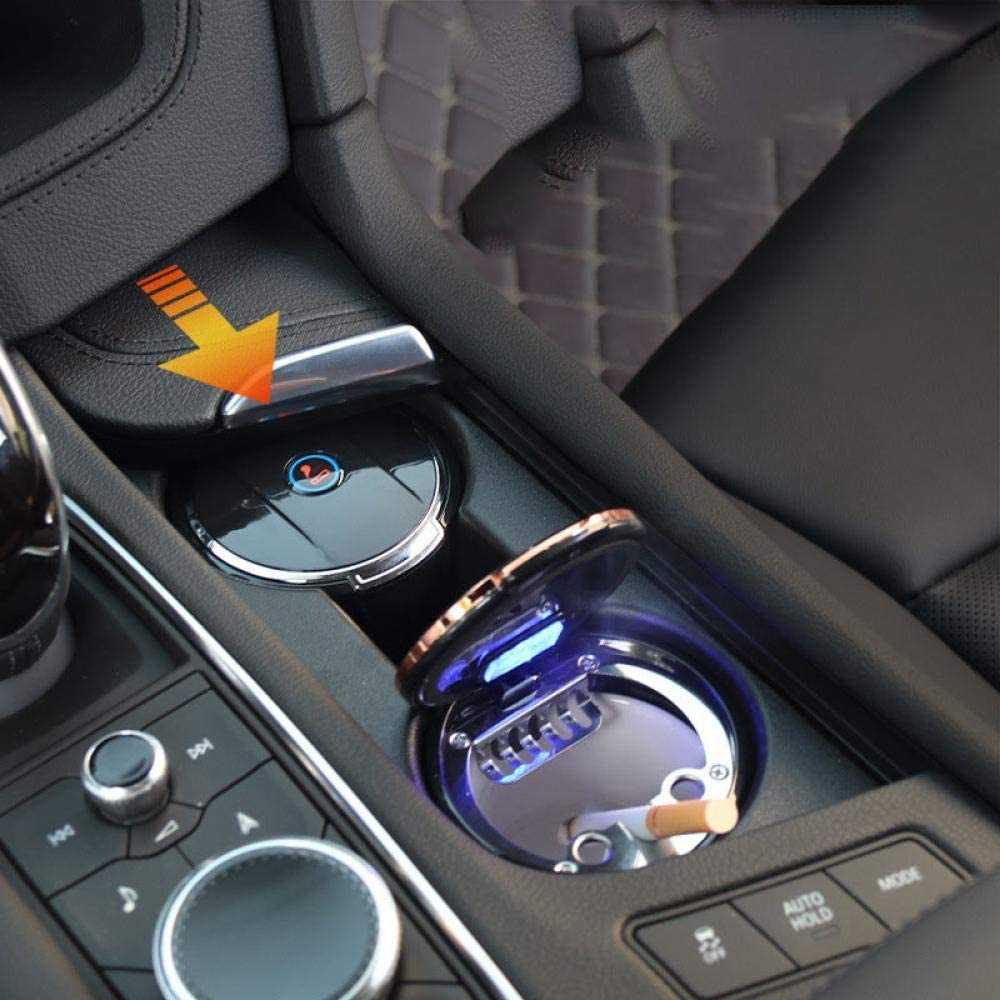 Fahrzeugascher Automobil -/Universal Suspension Kann Als Ablagebox Verwendet Werden, Multifunktions- Beleuchtete/Led/Auto Leucht Auto Aschenbecher Abgedeckt