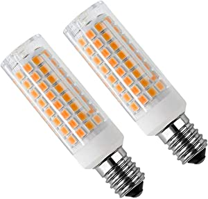 E14 LED Bulb 8 Watt Appliance Bulb Microwave Oven Light 3000K Warm White, 730lm, 80 Halogen Equivalent dimmable (2-Pack)