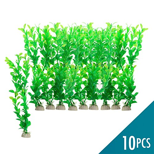 Artificial Plants for Fish Tank Decorations - 10 pcs 3.2 x 11