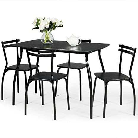 Amazon.com - Giantex 5-Piece Kitchen Table Set, Dining Table ...