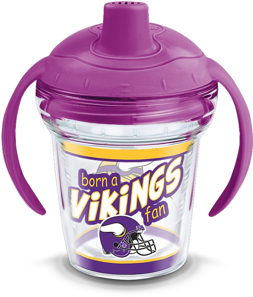 Tervis 1290808 NFL Minnesota Vikings Born A Fan Sippy Cup With Lid 6 oz Clear
