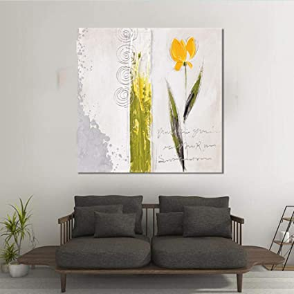 Fiori Gialli Per Olio.Xianrenge Dipinto Ad Olio Dipinto A Mano Fiore Giallo Dipinto