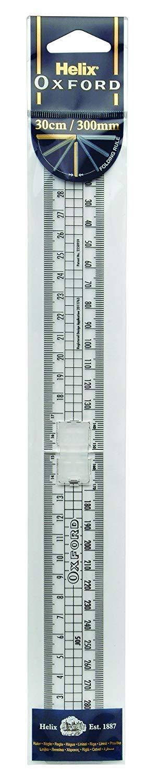 2xOxford 30cm Metric Folding Ruler Helix