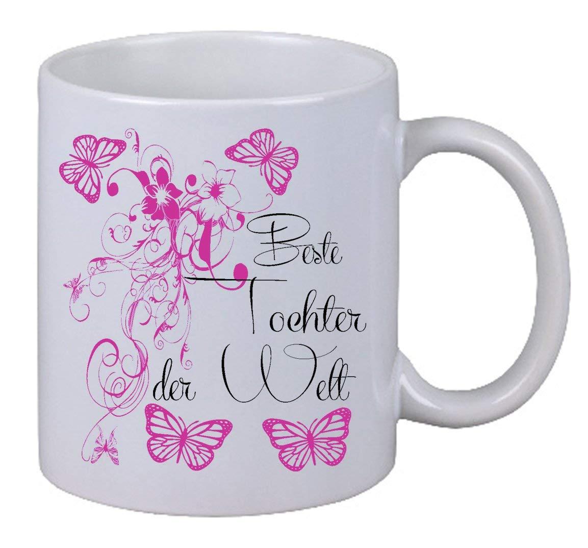 """Kaffee Tasse /""""Beste Tochter Floral/"""" Geburtstag Geschenk Überraschung Butterfly"""