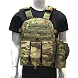 DMAIP Hunting Molle Tactical Vest Combat Security Training Tool Pouch Modoular Protective Durable Waistcoat for Outdoor…