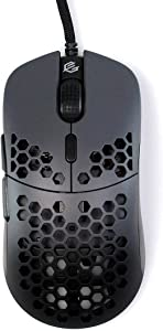 Gwolves Hati 2020 Edition Ultra Lightweight Honeycomb Design Wired Gaming Mouse 3360 Sensor - PTFE Skates - 6 Buttons - Only 61G (Gun Metal)
