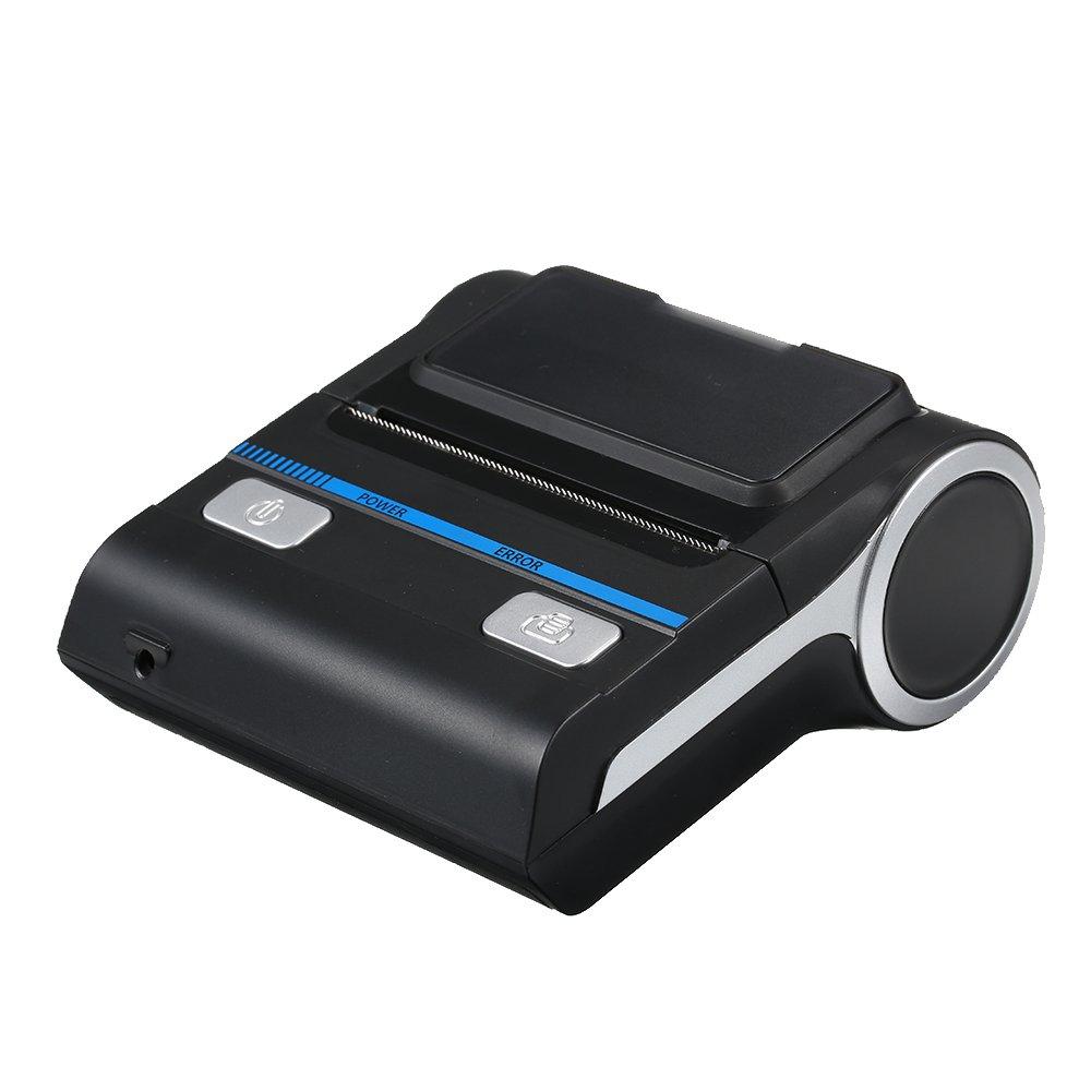 Docooler Portable Mini sans Fil Thermique 80mm Haute BT Qualité Imprimante Le Reçu Imprimante pour Mobile